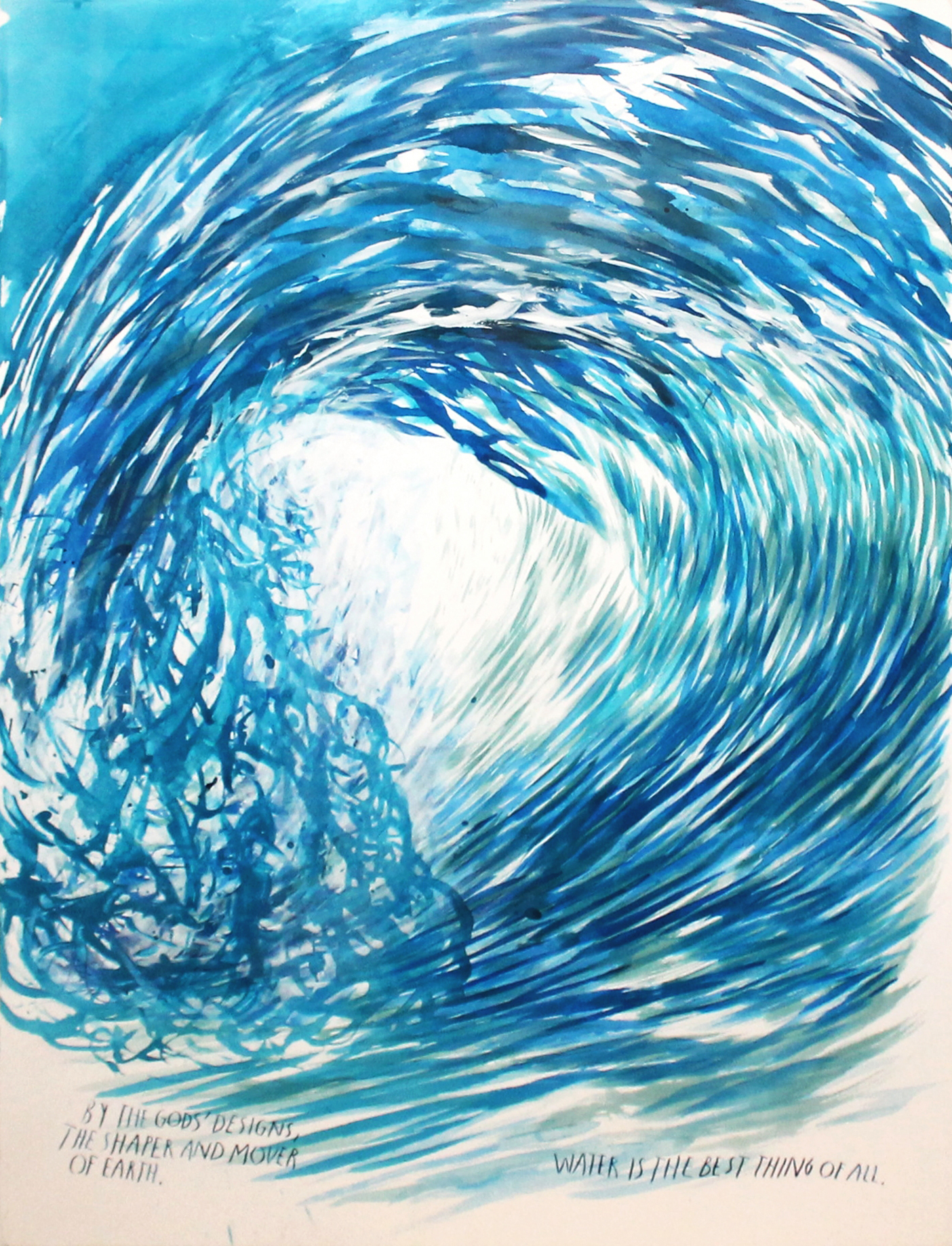 Raymond Pettibon, Untitled (Water Is the Best Thing of All)