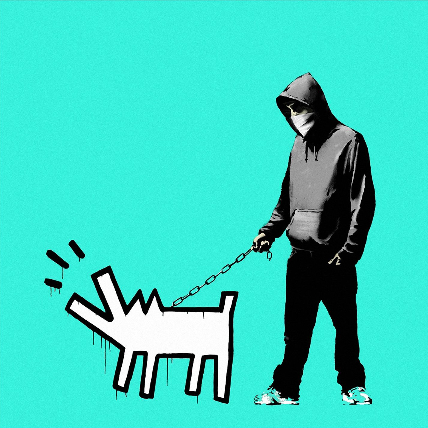 Banksy, Choose Your Weapon (Turquoise)