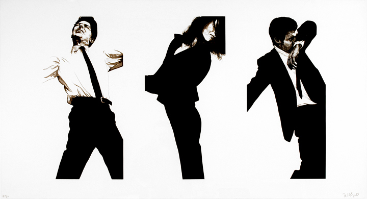 Robert Longo, Jules, Gretchen and Mark (State II)