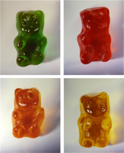 Vik Muniz, Gummy Bears (complete set of 4 works)